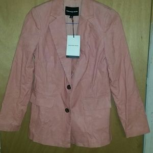 Whowhatwear pink Jean jacket size small